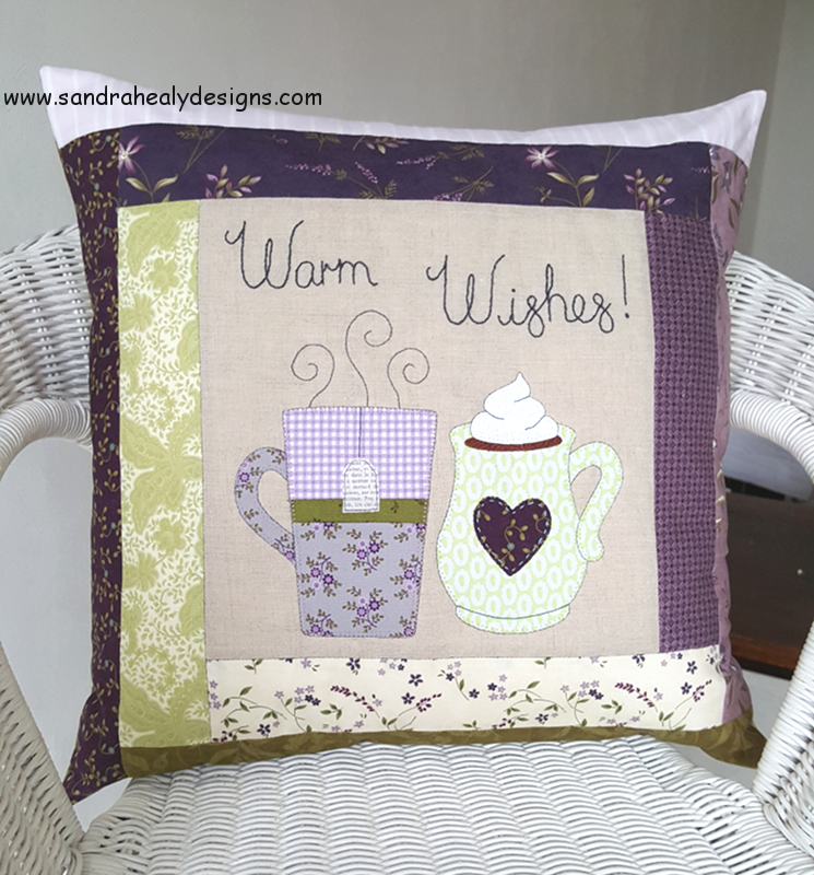 Sandra Healy Designs Warm Wishes digital pillow pattern