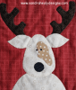 Sandra Healy Designs The Reindeer Crew Christmas quilt cream reindeer detail