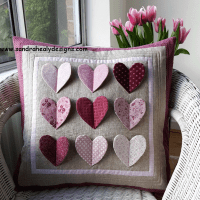 Fluttering Hearts Pillow