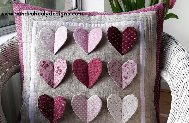 Fluttering Hearts Pillow