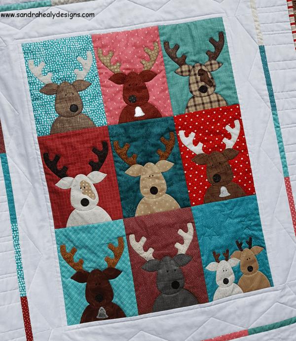 Sandra Healy Designs The Reindeer Crew panel