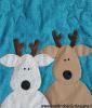 Sandra Healy Designs The Reindeer Crew quilt pattern baby reindeer