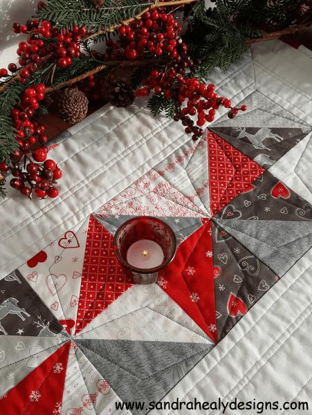 Sandra Healy Designs Seasonal Snippets table runner detail