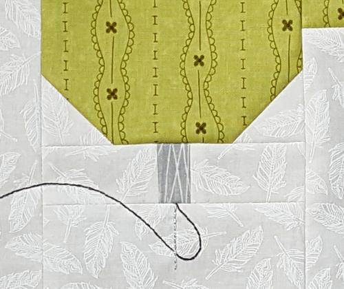 Sandra Healy Designs, Sew Lets QAL, Sewing Machine, Block 1, Needle