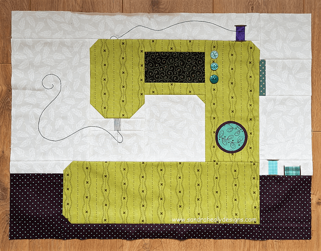 Sandra Healy Designs Sew Let's Quilt Along Block 1 Sewing Machine