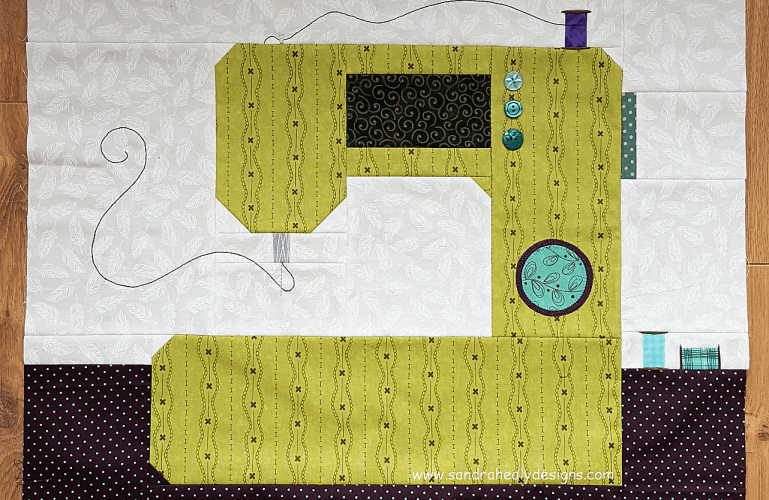 Sandra Healy Designs, Sew Let's QAL, Sewing Machine