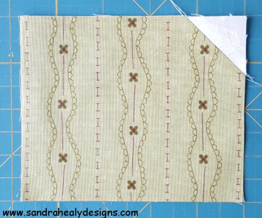 Sandra Healy Designs, Sew Let's QAL, Sewing Machine, Cut and Flip Corners, Step 5