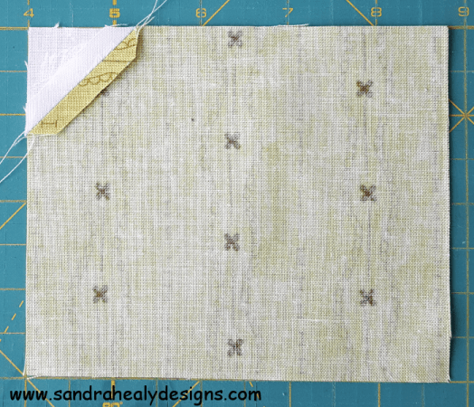 Sandra Healy Designs, Sew Let's QAL, Sewing Machine, Cut and Flip Corners, Step 6