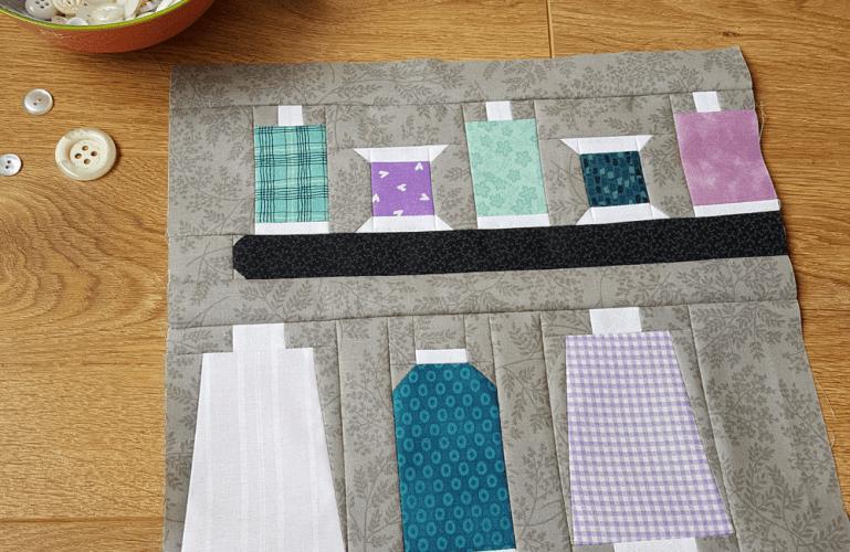 Sandra Healy Designs, Sew Let's QAL, Block 4, Thread Cones
