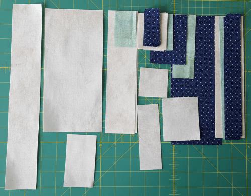 Sandra Healy Designs, Sew Let's QAL, block 3, ruler, cut pieces