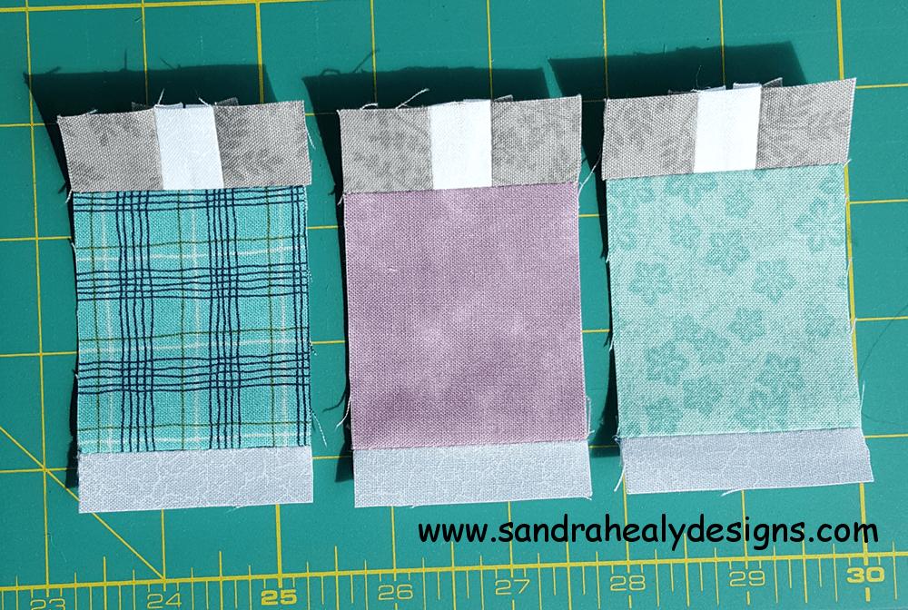 Sandra Healy Designs, Sew Let's QAL, Block 4, spools close up
