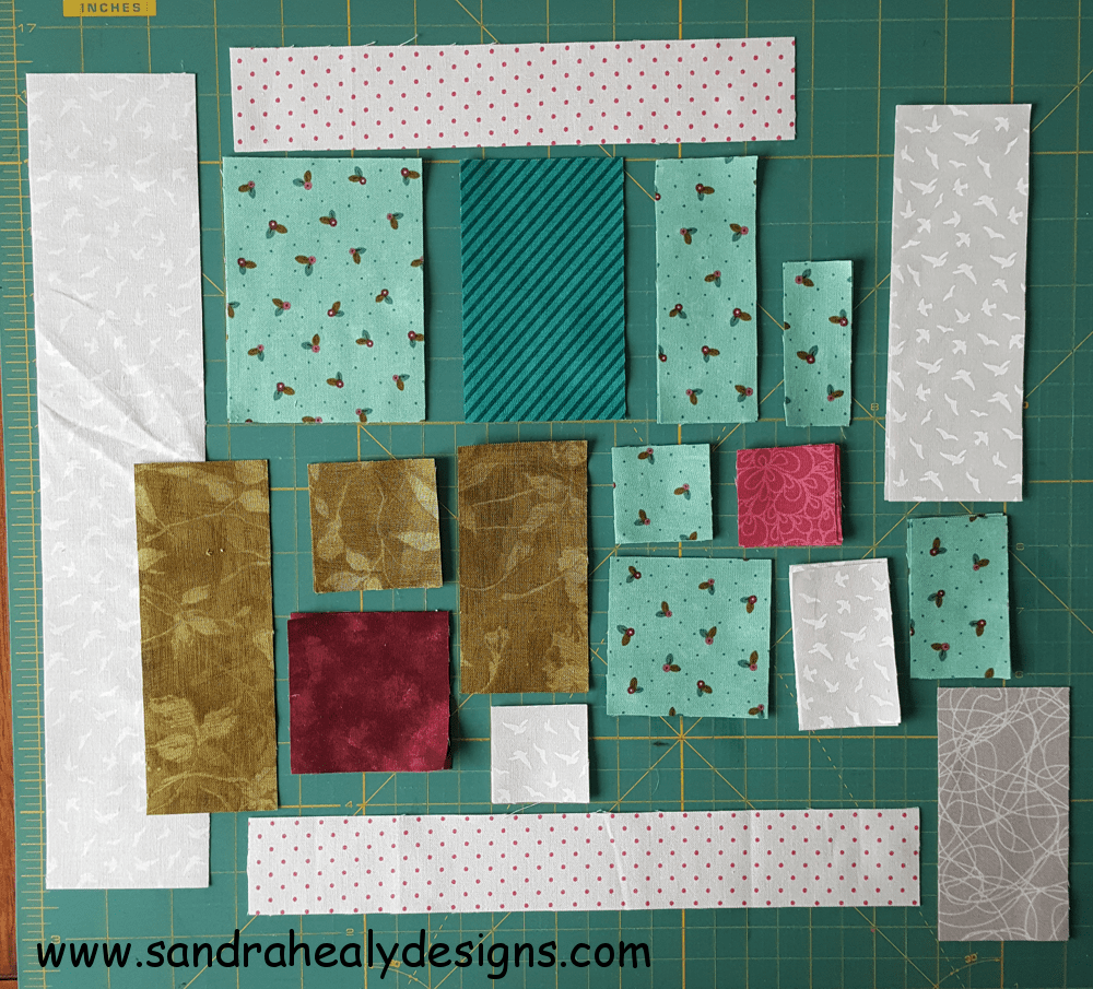 Sandra Healy Designs, Sew Let's QAL, Block 5, Quilt Shop pieces