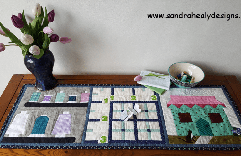 Sandra Healy Designs, Sew Let's QAL, Table Topper