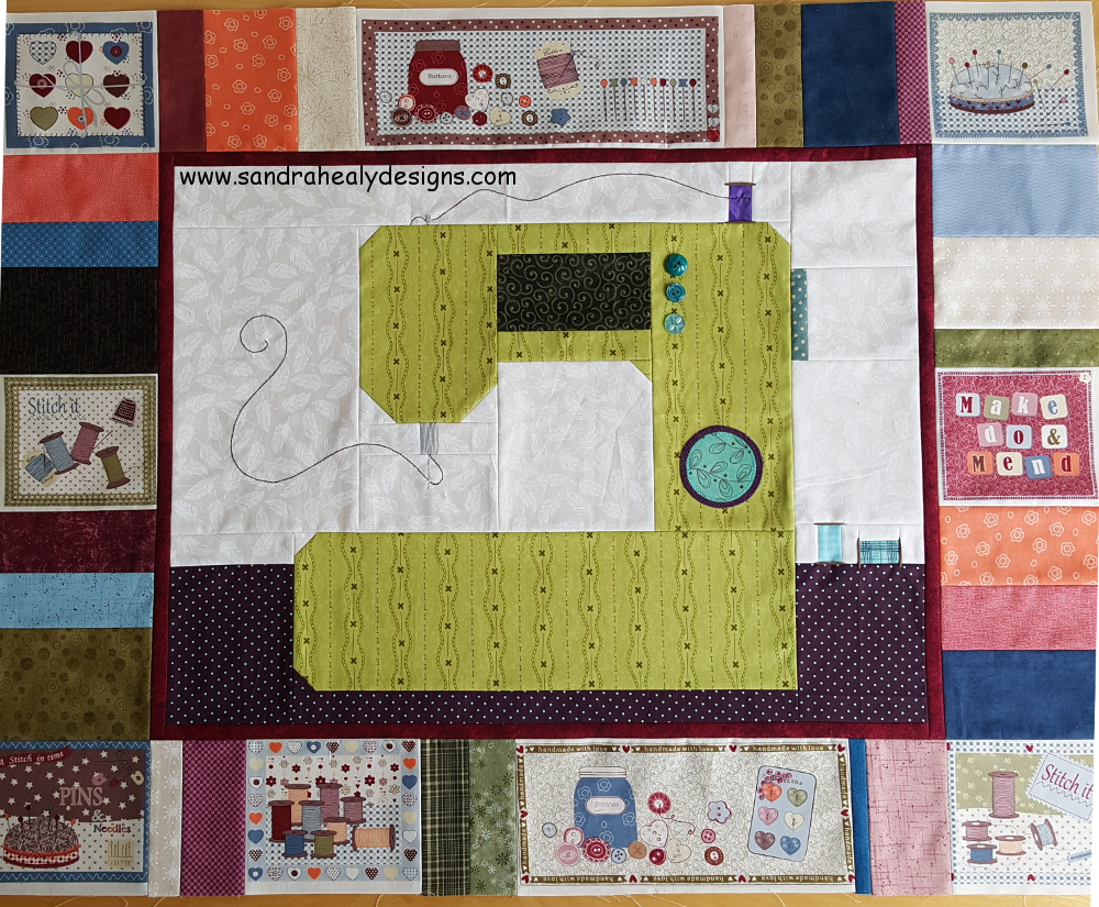 Sandra Healy Designs, Sew Let's quilt along, project ideas, sewing machine quilt top