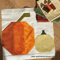 Sandra Healy Designs harvest pumpkins quilt block