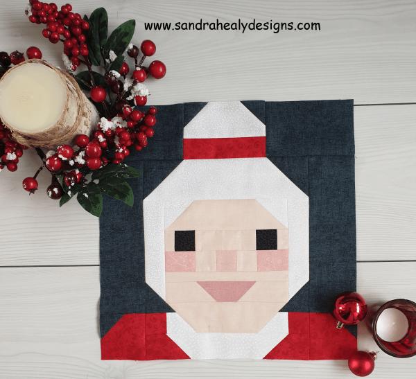Sandra Healy Designs Mrs Claus quilt block pattern