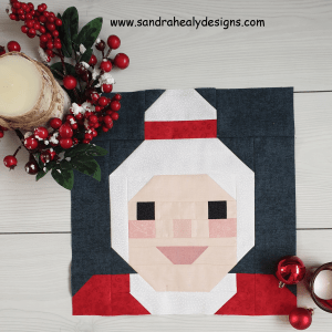 Sandra Healy Designs Mrs Claus quilt block pattern