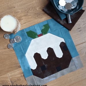 Sandra Healy Designs Christmas pudding quilt block