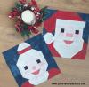 Sandra Healy Designs Santa and Mrs Clause in Moda grunge
