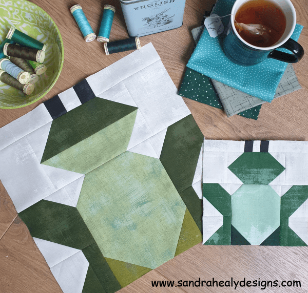 Sandra Healy Designs Frog Quilt Block Pattern