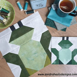 Sandra Healy Designs Frog Quilt Block Pattern