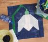 Sandra Healy Designs snowdrop quilt block styled