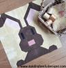 Sandra Healy Designs bunny rabbit quilt block