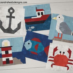 Sandra Healy Designs six piece nautical pattern bundle