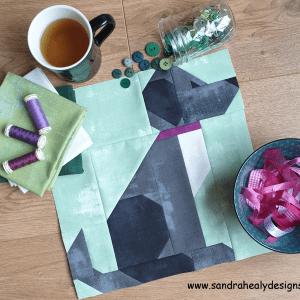 Sandra Healy Designs dog quilt block
