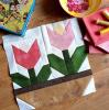 Sandra Healy Designs pink tulip quilt block