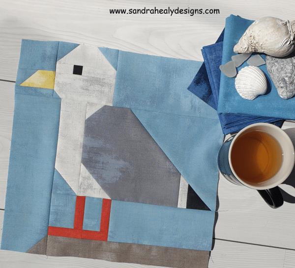Sandra Healy Designs seagull quilt block