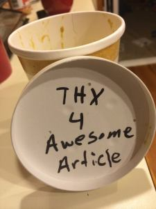 Ryan Martin of Umami, a Fort Collins food truck, slipped this onto a side of curry sauce.