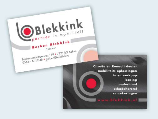 Blekkink visitekaart