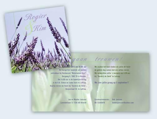 Trouwkaart Lavendel