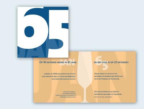 Uitnodigingskaart 65 jaar