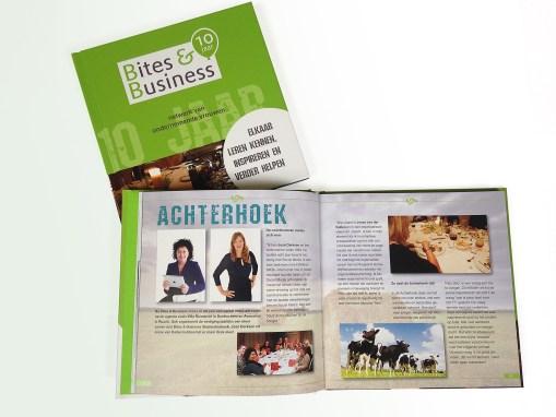 Ontwerp en opmaak Boek Bites&Business jubileum