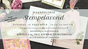 Stempelavond - Pressed Petals Journal
