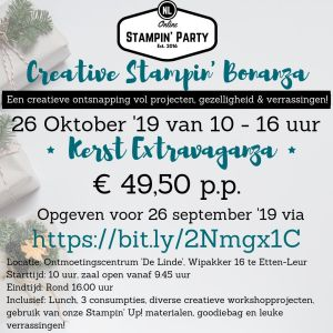 "Creative Stampin' Bonanza - Kerstworkshop Etten-Leur @ Ontmoetingscentrum ""De Linde"""