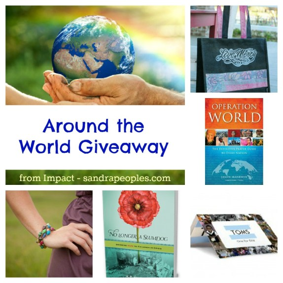 around the world giveaway from Impact - sandrapeoples.com