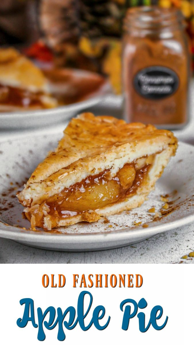 All-American classic pie; filled with delicious apple slices, tossed with sugar, cinnamon and fragrant spices for a touch of sweetness in every bite.