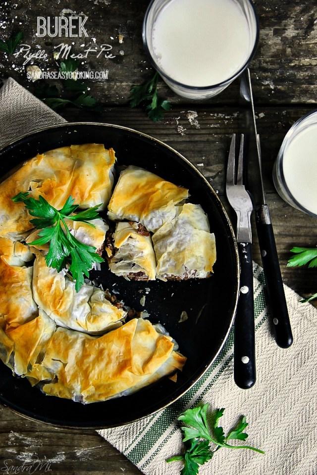 Phyllo Meat Pie Pastry —Burek