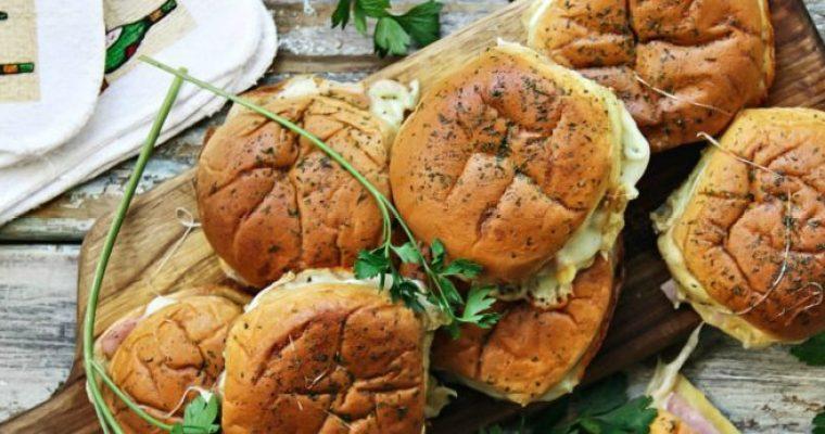 Ham and Cheese Potato Rolls, Hot Sandwiches