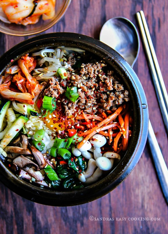 Korean Mixed Rice Bowl—Bibimbap