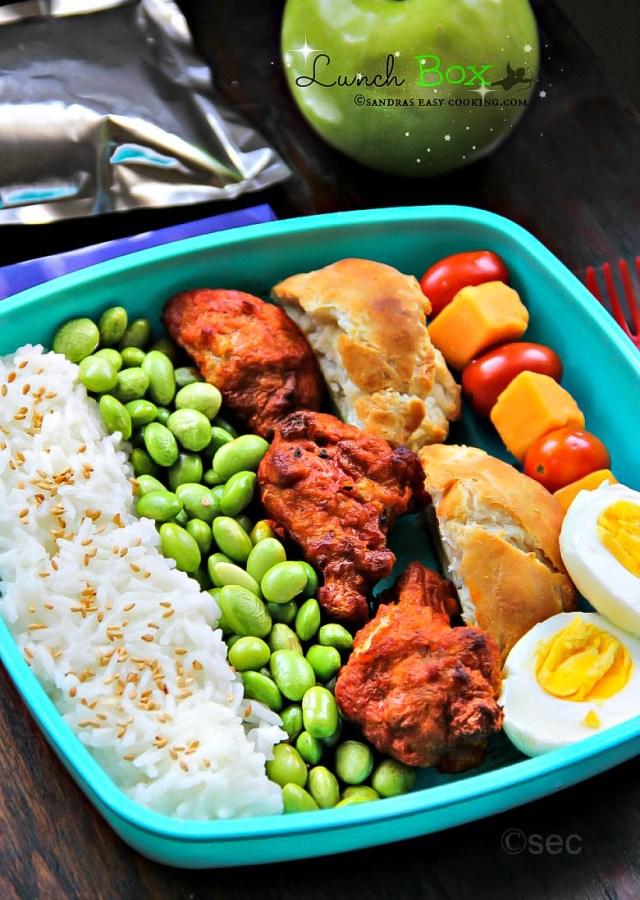 Lunch Box Rice Mukimame Chicken Wings