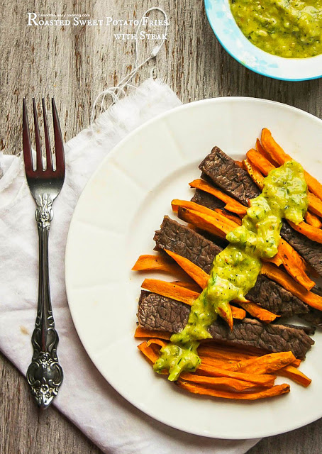 Roasted SweetPotatoFries with Steak Recipe