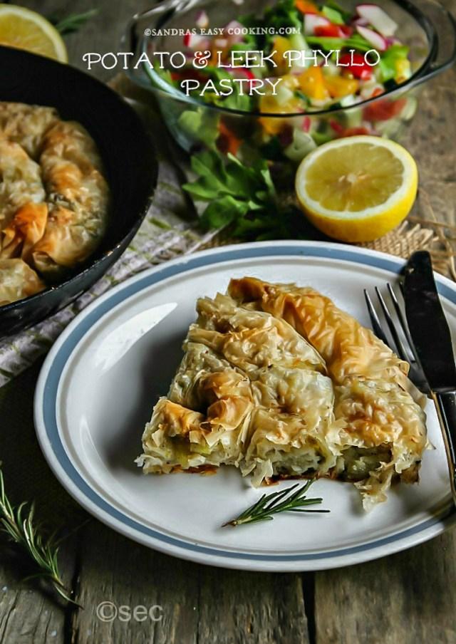 Potato and Leek Phyllo Pastry