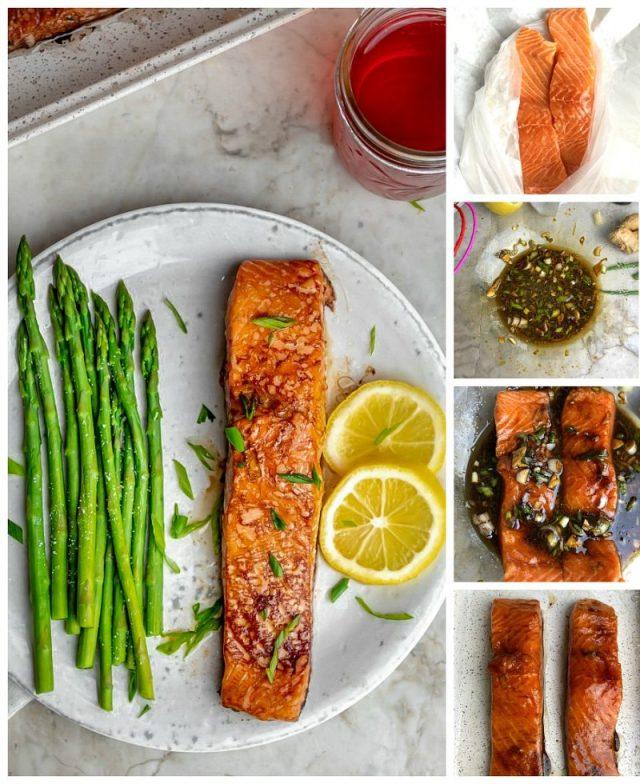 Soy Sauce Marinated Salmon