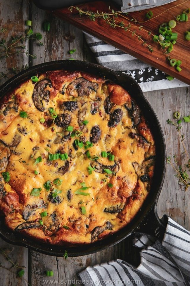 Mushroom Frittata with a video tutorial