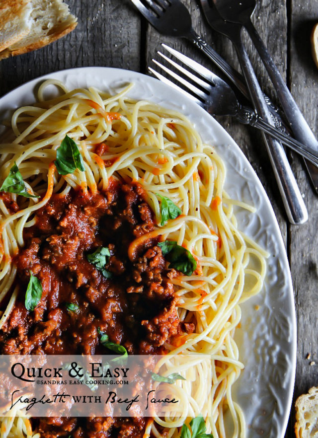 Quick and Easy Pasta with Beef Sauce Recipe