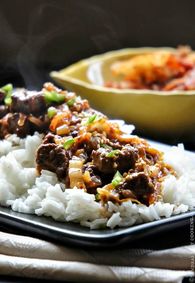 Slow Cooked Beef with Kimchi